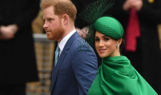 Letzter Auftritt fürs Königshaus: Meghan Markle und Prinz Harry am 9. März 2020 beim Gottesdienst in der Westminster Abbey anlässlich des Commonwealth Day. (Foto)
