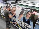 Die Wahlplakate der CDU sorgen im Netz für Spott. (Foto)