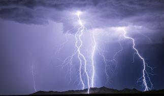In Indien kamen etliche Menschen durch einen Blitzschlag ums Leben. (Foto)