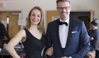 Michael Antwerpes mit Magdalena Neuner beimIBU Biathlon World Cup 2016. (Foto)