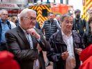 Frank-Walter Steinmeier und Armin Laschet zu Besuch bei den Flut-Opfern. (Foto)