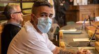 Rapper Bushido sitzt im Prozess gegen den Chef einer bekannten arabischstämmigen Großfamilie in einem Gerichtssaal des Landgerichts Berlin. (Foto)