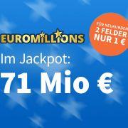Am Dienstag liegen 71 Millionen Euro im Euromillions-Jackpot. (Foto)