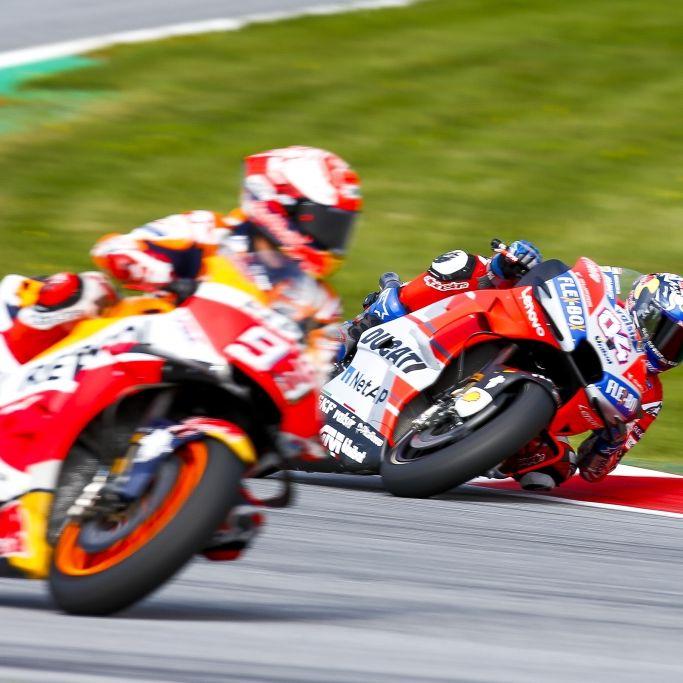 Ergebnisse vom Rennen der Moto2, Moto3 und MotoGP in Österreich (Foto)