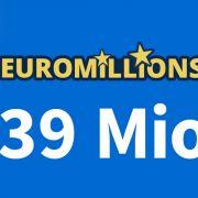 Am Freitag, 17.09.2021, liegen 39 Mio. Euro im Jackpot bei EuroMillions (Foto)