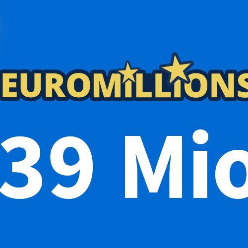 Freitaggeht es um 39 Millionen Euro! Jetzt 5 € Rabatt sichern! (Foto)