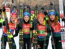 Die deutschen Biathlon-Stars Denise Herrmann (li.) und Franziska Preuß (2.v.l.) sind bei den Deutschen Biathlon-Meisterschaften 2021 in Arber mit von der Partie. (Foto)