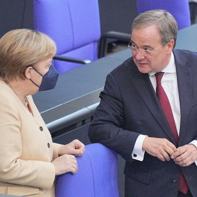 Umfragetief für Laschet! Bundeskanzlerin sorgt für Aufruhr im Bundestag (Foto)