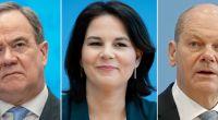 Rechtsextreme haben Armin Laschet, Annalena Baerbock und Olaf Scholz als Leichen inszeniert. (Foto)