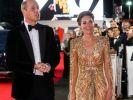 Strahlend schön, wie es einer künftigen Königin gebührt: Herzogin Kate überstrahlte in ihrer goldenen Robe selbst Hollywoodstars. (Foto)