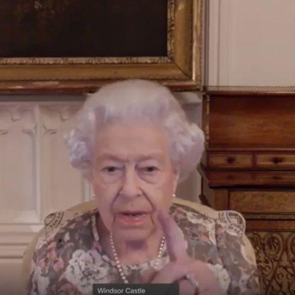 Königin Elizabeth II. die während einer virtuellen Audienz. (Foto)
