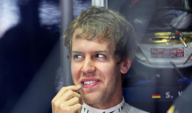 Abgeschlagen, aber guten Mutes: Sebastian Vettel. (Foto)