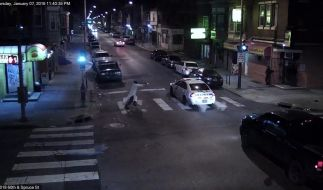 """""""Absolut schaurige"""" Tat: Eine Kamera filmte den Angriff auf US-Polizist Jesse Hartnett. Philadelphias Polizeichef Richard Ross kommentierte die Tat mit dem genannten Zitat. (Foto)"""