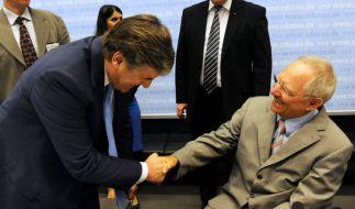 Ackermann und Schäuble (Foto)
