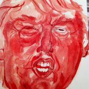 Künstlerin malt Portrait mit Menstruationsblut (Foto)