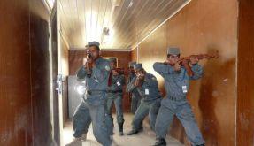 Afghanische Polizei bei der Übung (Foto)