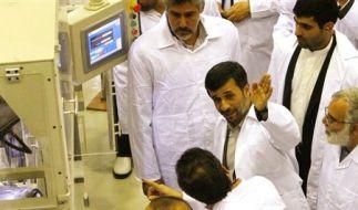 Ahmadinedschad Iran Isfahan Brennstäbe (Foto)