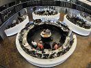 Aktienhändler an der Börse in Frankfurt.  (Foto)