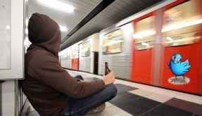 Alkohol in der Bahn (Foto)