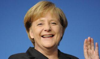Alles Gute zum Geburtstag: So strahlend sieht man Angela Merkel selten. (Archivbild) (Foto)