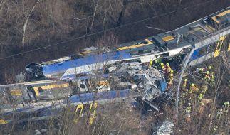 Am 9. Februar 2016 ereignete sich bei Bad Aibling in Oberbayern ein schweres Zugunglück. (Foto)