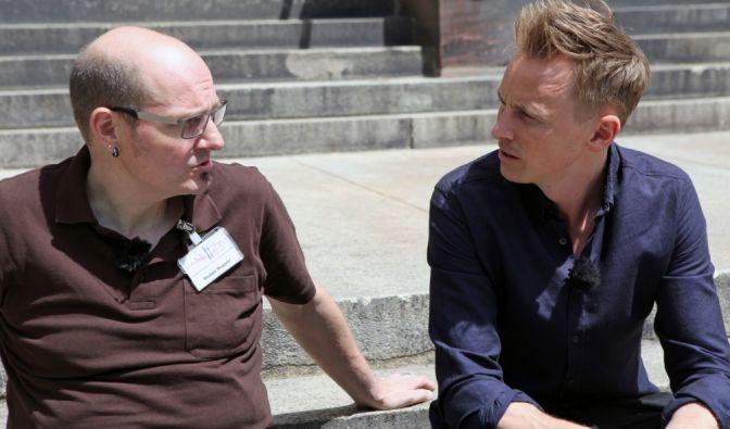 """""""Am Puls Deutschlands"""": Stefan Wagner (links) aus Speyer im Gespräch mit Jochen Breyer. (Foto)"""