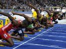 Am Start der Sprintstrecke dominieren schwarze Athleten. Ihnen liegt Schnelligkeit in den Genen. (Foto)