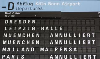 An neun Flughäfen wird heute gestreikt. (Foto)
