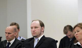Anders Behring Breivik während der Plädoyers der Staatsanwaltschaft. (Foto)