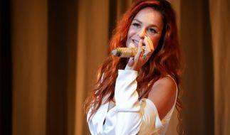 Andrea Berg auf der Bühne. (Foto)
