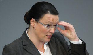 Andrea Nahles im Bundestag (Foto)