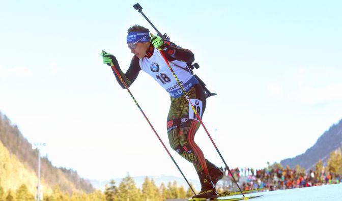 Andreas Birnbacher beim Biathlon Weltcup in Ruhpolding. (Foto)