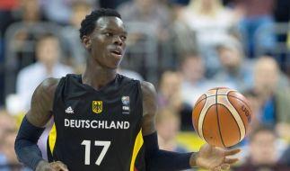 Angeführt von NBA-Jungstar Dennis Schröder streben die deutschen Basketballer bei der EM in Tel Aviv einen Erfolg an. (Foto)