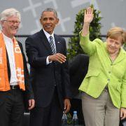 Obama grenzt sich von Trump ab, Merkel sorgt für Lacher (Foto)