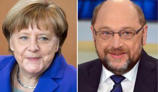 Angela Merkel (CDU) und ihr sozialdemokratischer Herausforderer Martin Schulz sollen nach dem Willen der Fernsehsender in zwei TV-Duellen gegeneinander antreten. (Foto)
