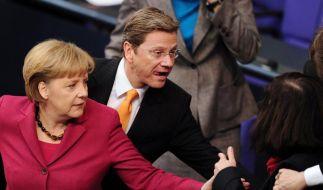 Angela Merkel (CDU) und Guido Westerwelle (FDP) (Foto)
