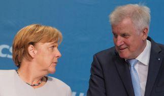 Angela Merkel und CSU-Vorsitzender Horst Seehofer beraten am 8. Oktober über eine gemeinsame Linie der CDU/CSU. (Foto)