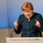 Angela Merkel richtet sich mit klaren Worten an die USA. (Foto)