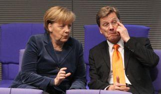 Angela Merkel und Guido Westerwelle (Foto)