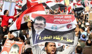 Anhänger der Muslimbruderschaft bei einer Demonstration in Kairo. (Foto)