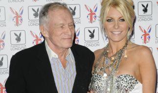 Anscheinend wieder vereint: Playboy-Gründer Hugh Hefner und Chrystal Harris. (Foto)