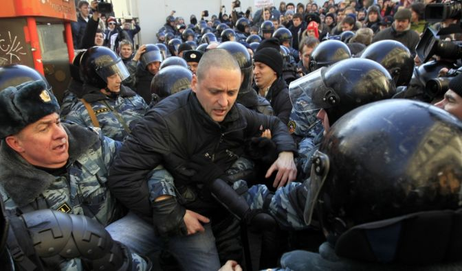 Anti-Putin-Demos: 25.000 Russen fordern Neuwahlen (Foto)