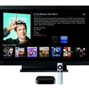 Apple TV - eine kleine schwarze Box, die Videos, Musik oder Fotos streamt.