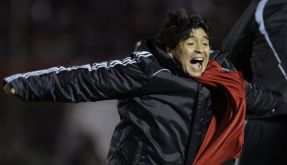 Argentiniens Nationaltrainer Diego Maradona (Foto)