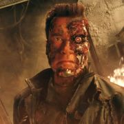 Arnold Schwarzenegger in seiner bekanntesten Rolle als Terminator.