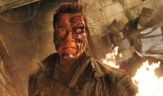 Arnold Schwarzenegger in seiner bekanntesten Rolle als Terminator. (Foto)