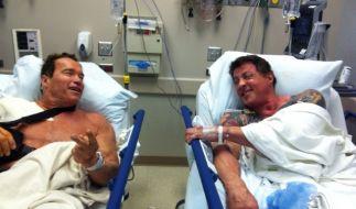 Arnold Schwarzenegger und Sylvester Stallone (Foto)