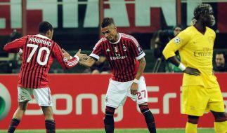 Arsenal nach 0:4 beim AC Mailand vor K.o. (Foto)