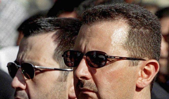 Assad-Brüder Maher und Baschar (Foto)