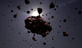 Asteroiden umkreisen die Erdumlaufbahn. (Foto)